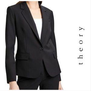 Theory Single Button Wool Blend Blazer Size 6